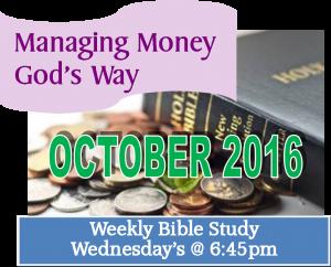 October Finance Stewardship Bible Study